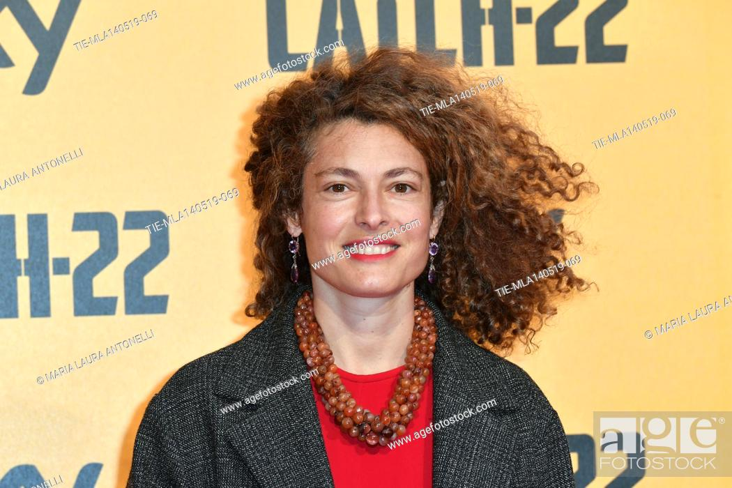 Stock Photo: Ginevra Elkann during the Red carpet for the Premiere of film tv Catch-22, Rome, ITALY-13-05-2019.