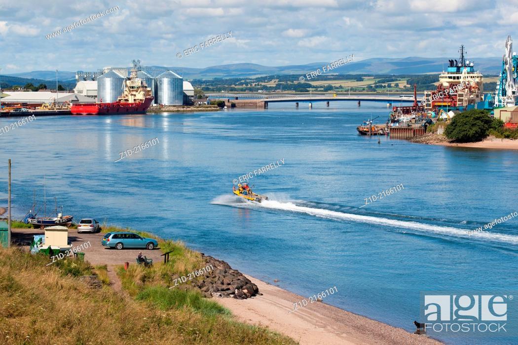 Stock Photo: Montrose Harbour Scotland UK.
