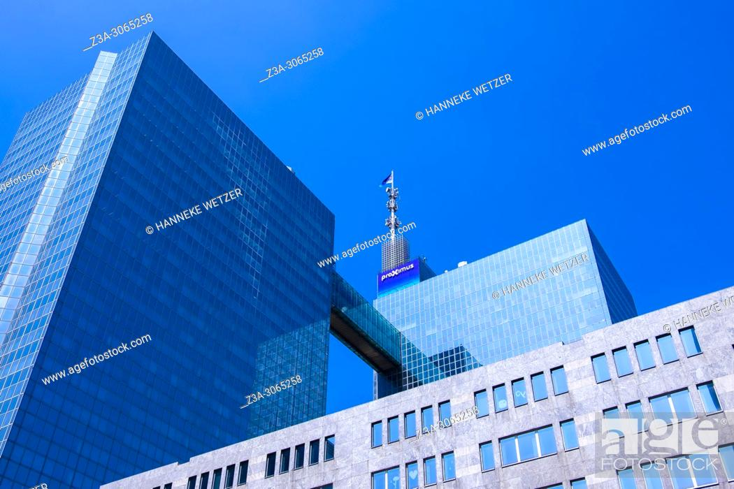 Photo de stock: Proximus building, Brussels, Belgium, Europe.