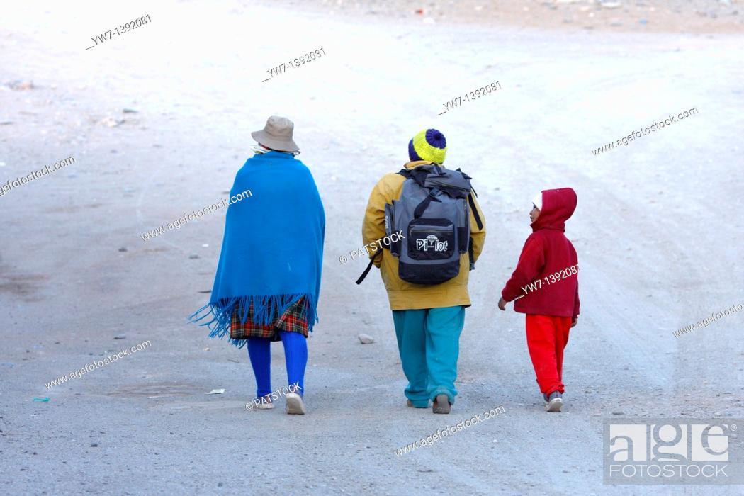 Stock Photo: Quechua people in San Antonio de los Cobres, a small town in Salta district, Argentina.