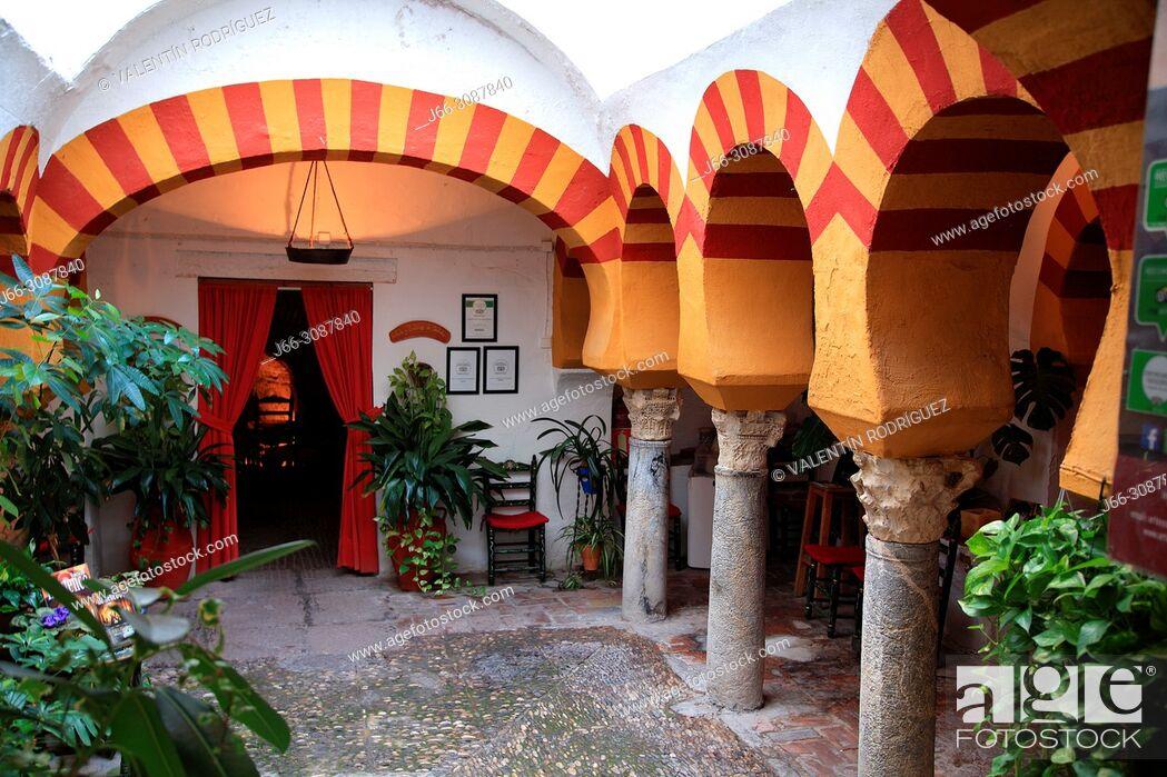 Imagen: Andalusian yard in the neighborhood of La Judería. Córdoba.