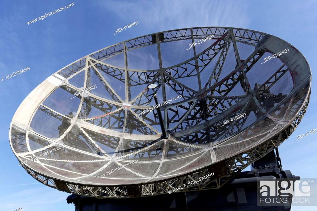 Stock Photo: Parabolic antenna from the 2nd World War, code name Würzburger Riese, Raversijde or Raversyde, Oostende, West Flanders, Belgium.