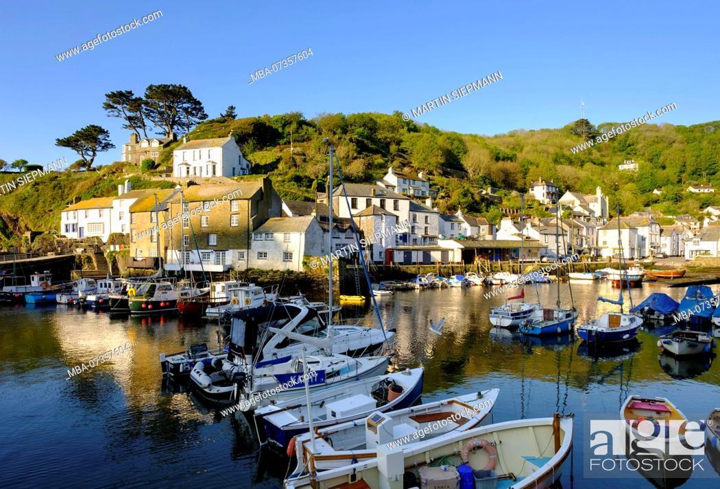 Stock Photo: Fishing port, Polperro, Cornwall, England, UK.
