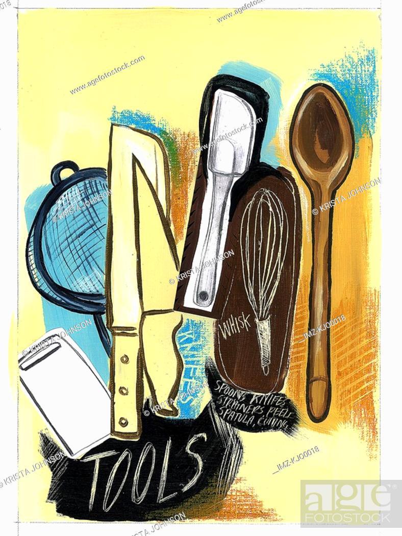 Stock Photo: kitchen tools.