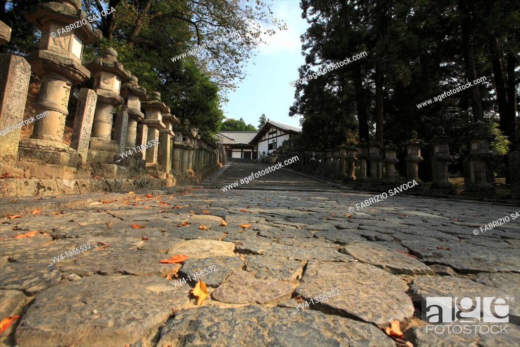 Stock Photo: Japan, Nara, Stone Lanterns.