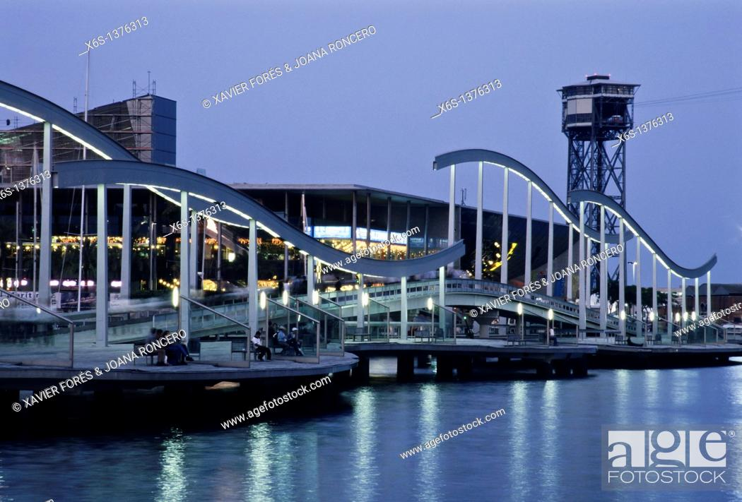 Stock Photo: Maremagnum, Harbor of Barcelona, Barcelona, Spain.