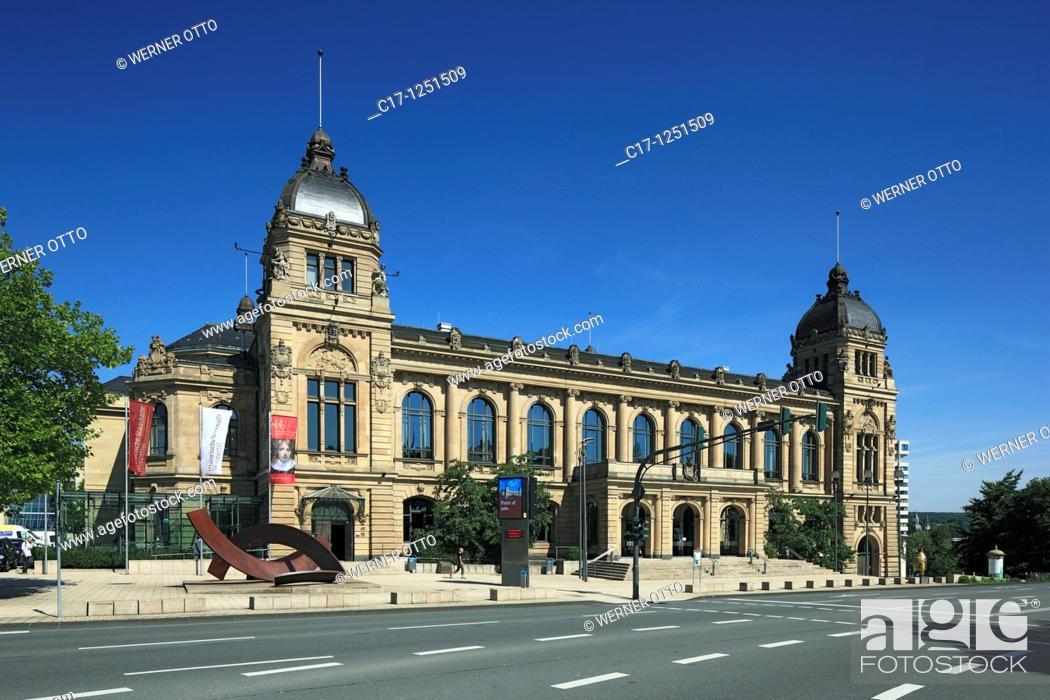 Stock Photo: Germany, Wuppertal, Wupper, Bergisches Land, North Rhine-Westphalia, NRW, Wuppertal-Elberfeld, historic town hall on the Johannisberg, Gruenderzeit.