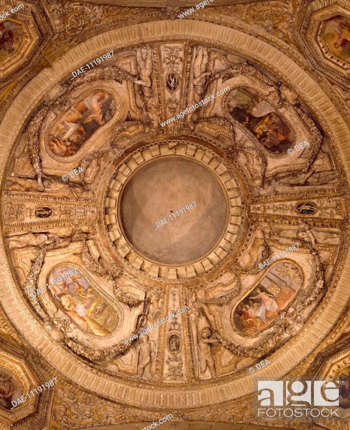 Ceiling stucco of Poggi Chapel, San Giacomo (St James) Church ...