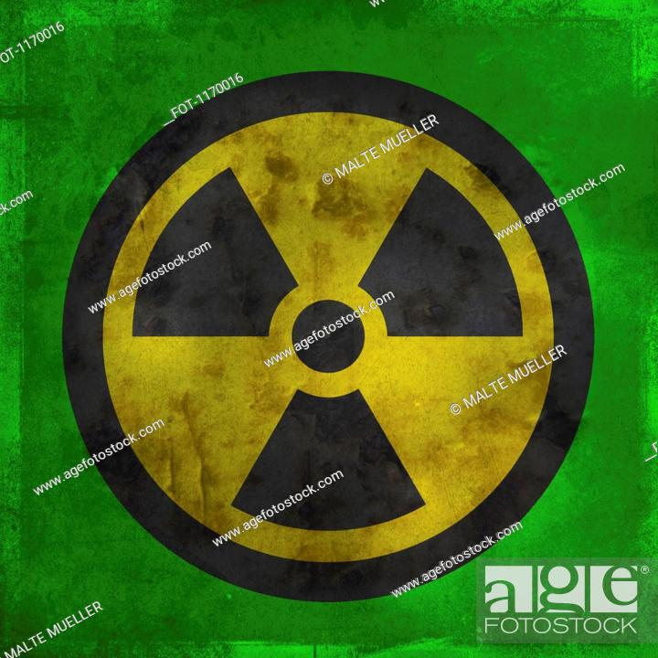 Stock Photo: Nuclear warning symbol.