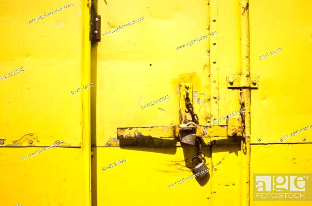 Photo de stock: metal door latches or lock.