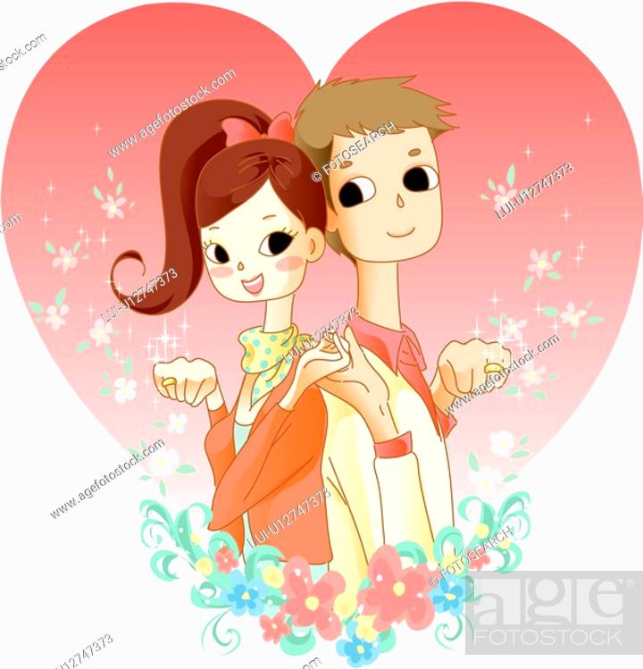 Stock Photo: couple ring, lover, affection, girl friend, boy friend, couple.