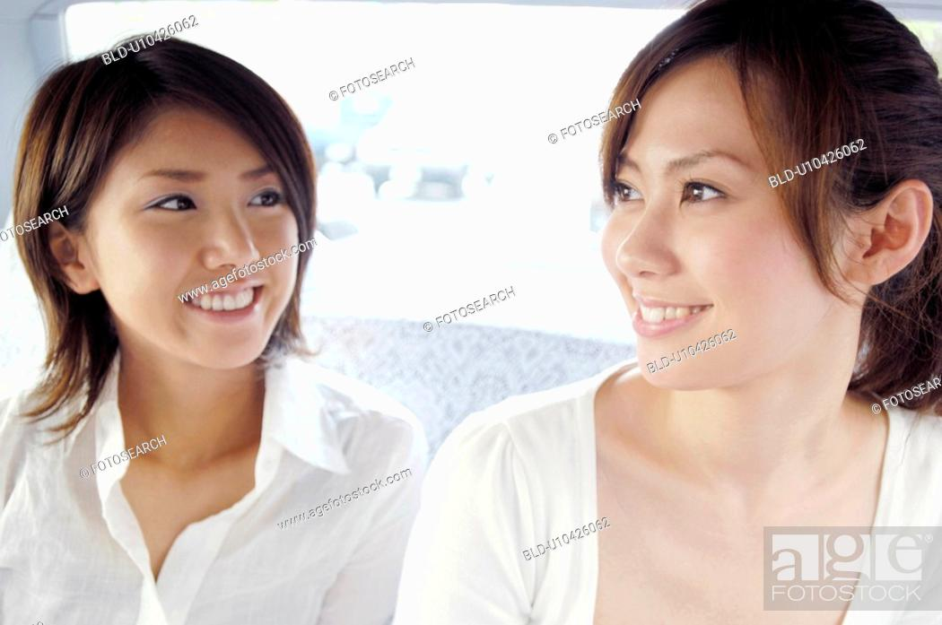 Stock Photo: Women in the taxi.
