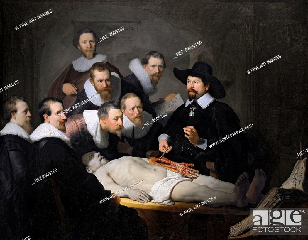 The Anatomy Lesson of Dr. Nicolaes Tulp, 1632. Artist: Rembrandt van ...