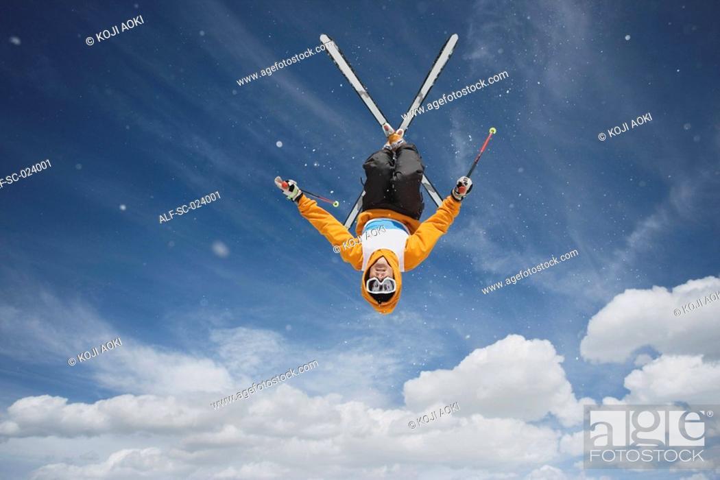 Stock Photo: Acrobatic Skier.