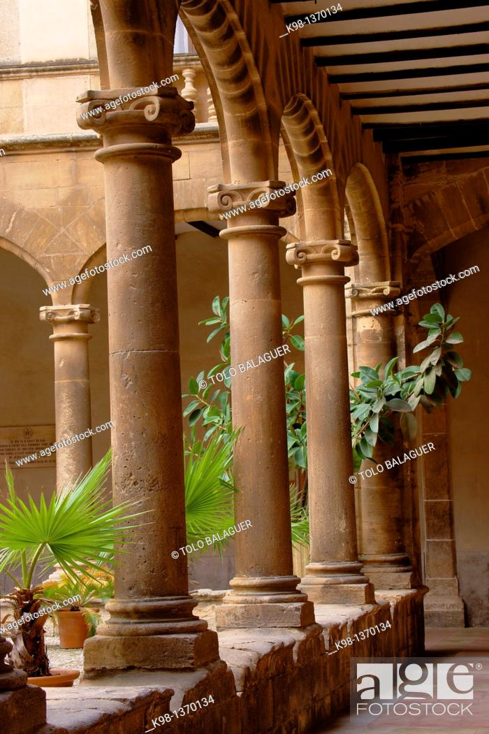 Stock Photo: Faculty of Monti-Sion, Es Call, Jewry, Historic Center, Palma Mallorca Balearic Islands Spain.