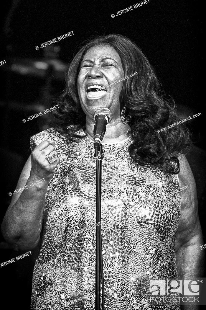 Stock Photo: Aug 11, 2015: American soul, R&B, pop and gospel singer, songwriter ARETHA FRANKLIN, 22 (Aretha Louise Franklin, born Memphis, Tennessee, March 25, 1942).