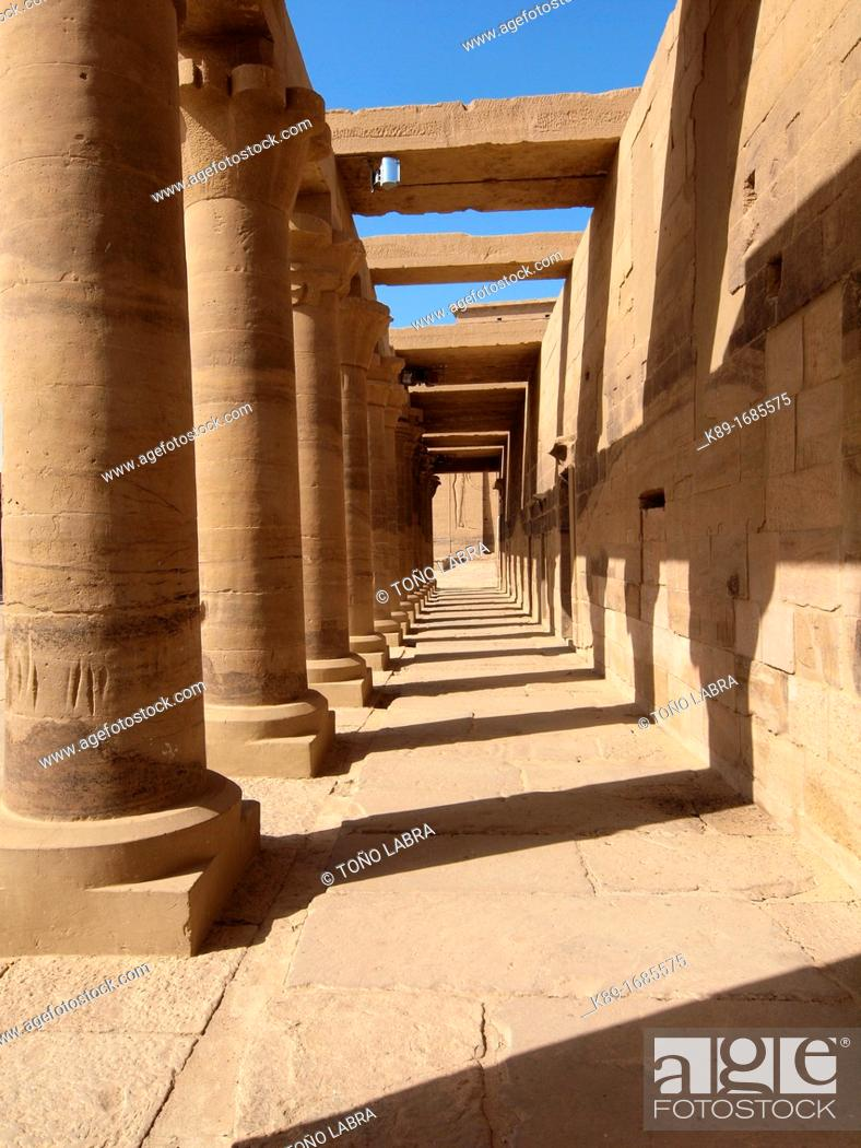 Stock Photo: Philae, Isis Temple, Aswan, Upper Egypt.