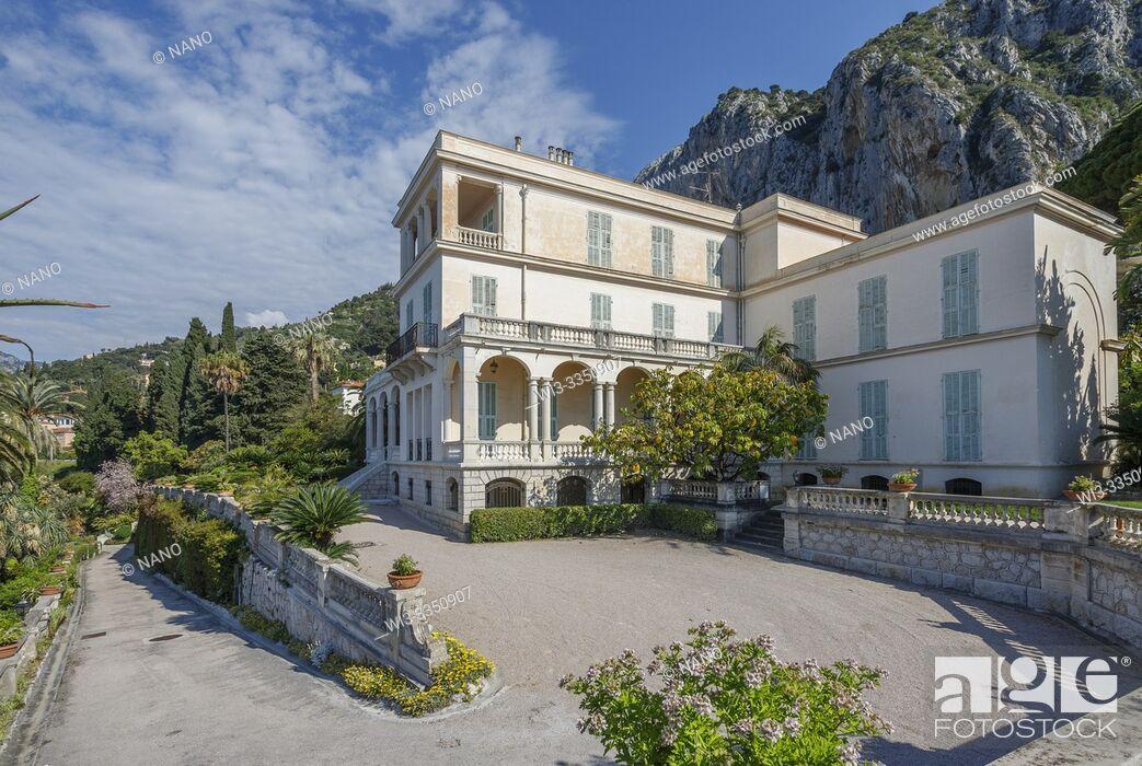 Photo de stock: France, Alpes Maritimes, Menton, jardin Maria Serena (Maria Serena Garden), the villa (obligatory mention of the garden name and editorial only.