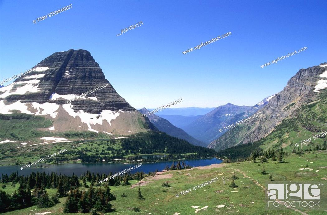 Stock Photo: USA - National Park - Glacier - Hidden Lake.