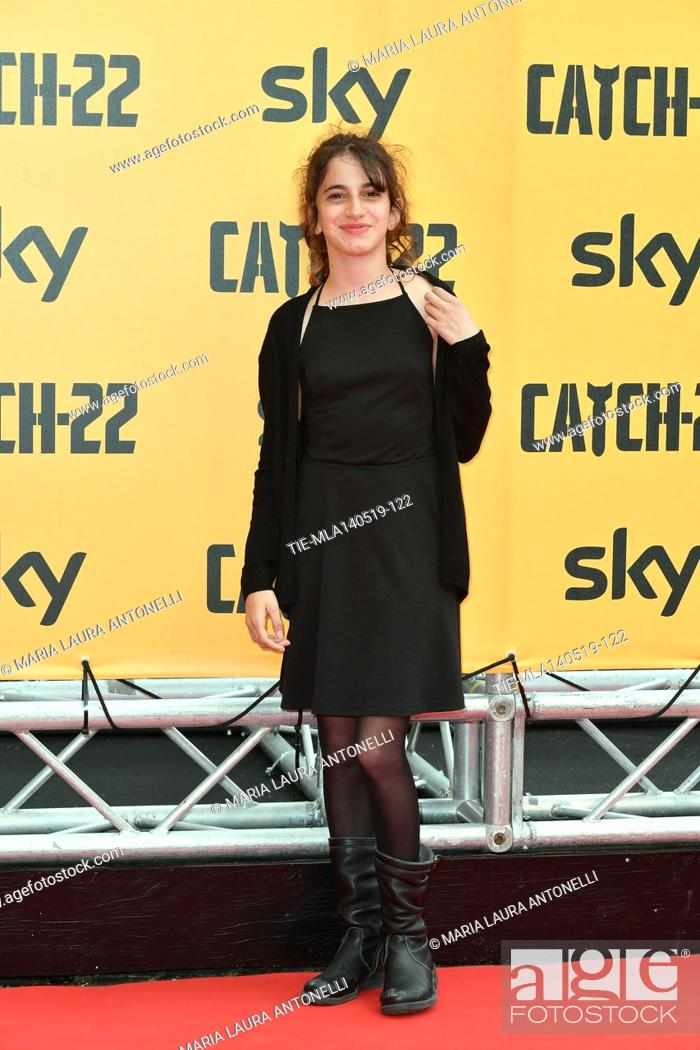Stock Photo: Viola Pizzetti during the Red carpet for the Premiere of film tv Catch-22, Rome, ITALY-13-05-2019.