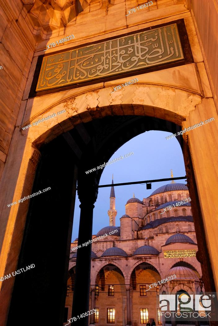 Stock Photo: Istanbul  Turkey  Blue Mosque, Sultanahmet.