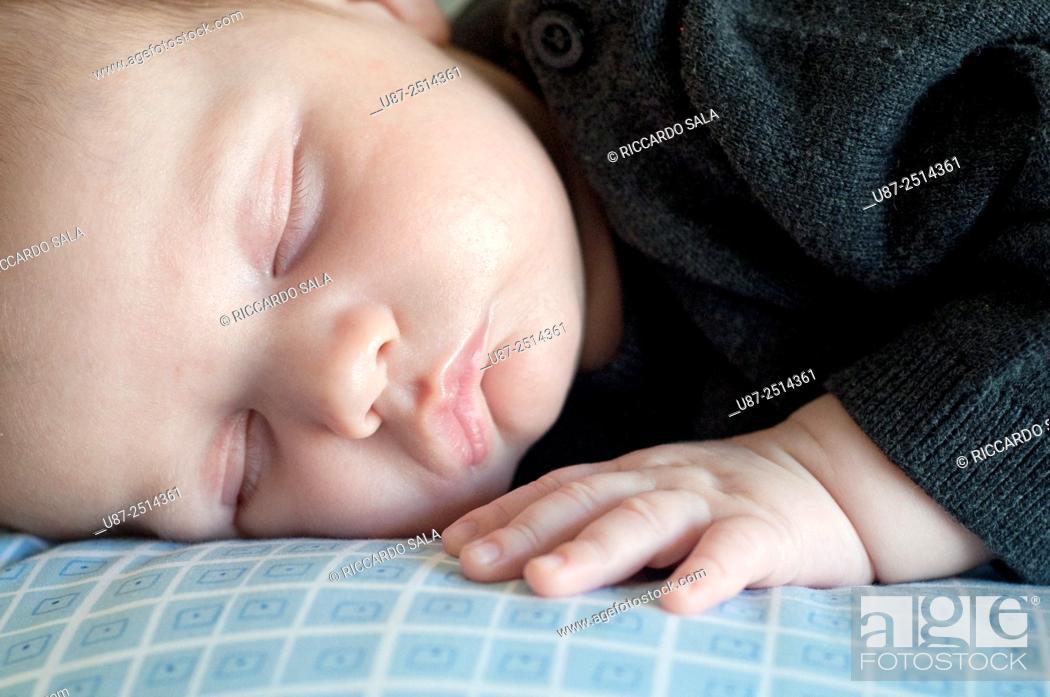 Stock Photo: Sleeping Baby Boy. . . . .