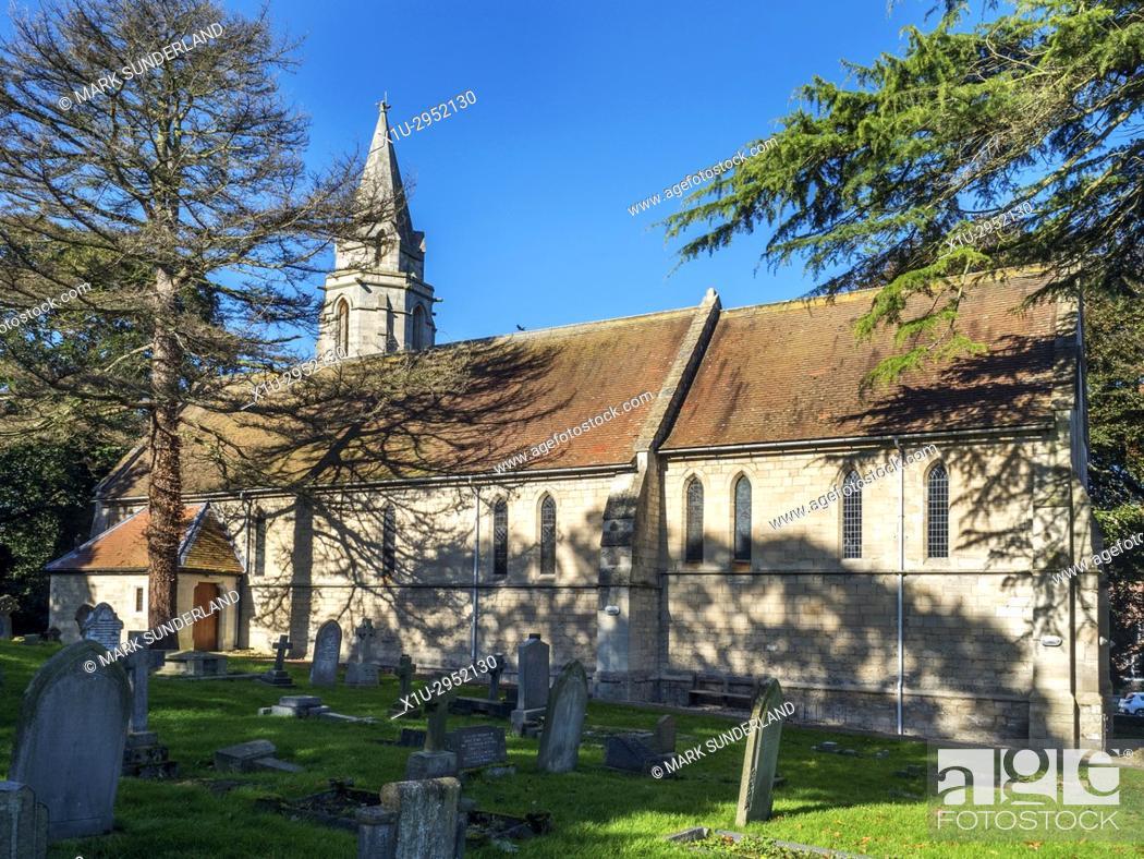 Imagen: Parish Church of St John the Baptist at Bishop Monkton North Yorkshire England.
