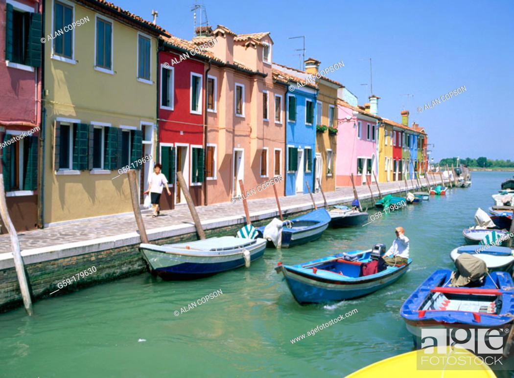 Stock Photo: Burano Island. Venice. Italy.