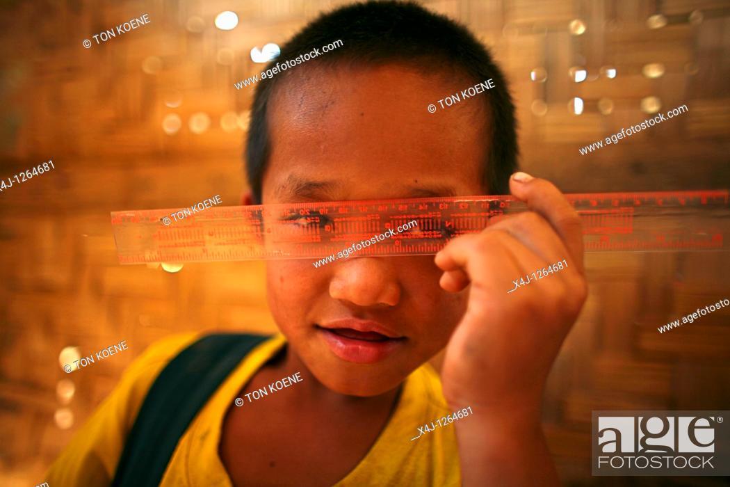 Stock Photo: school in thailand.