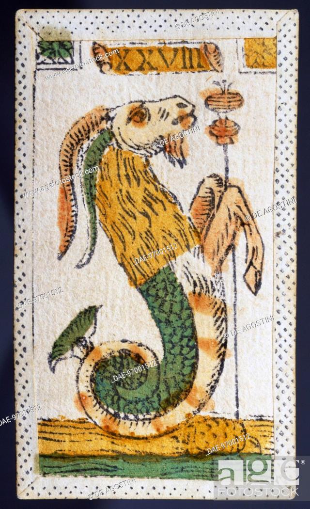 Tarot card for Capricorn  Italy, 16th century  Venice, Museo