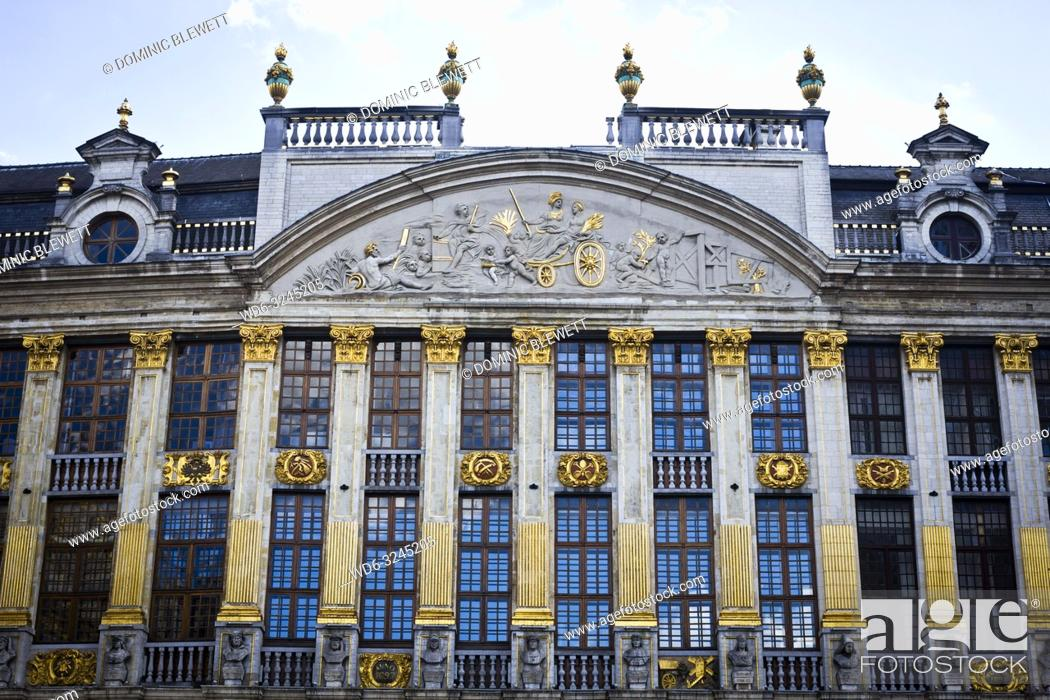 Stock Photo: Facade of the House of the Dukes of Brabant.