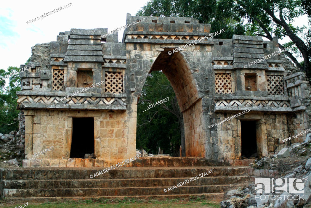 Stock Photo: Labna Arch Yucatan Mexico.