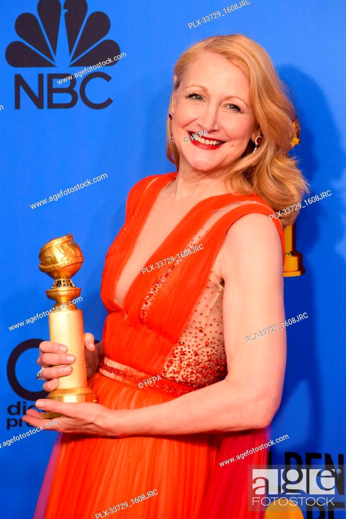 Stock Photo: After winning the category of BEST PERFORMANCE BY AN ACTRESS IN A SUPPORTING ROLE IN A SERIES, LIMITED SERIES OR MOTION PICTURE MADE FOR TELEVISION for her role.