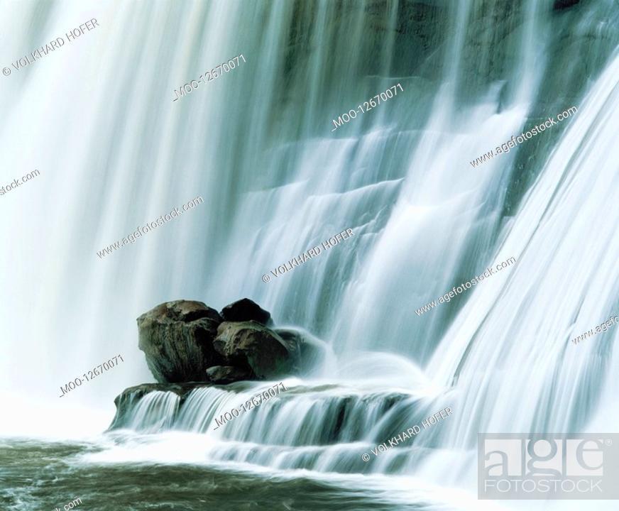 Stock Photo: Waterfall close-up.