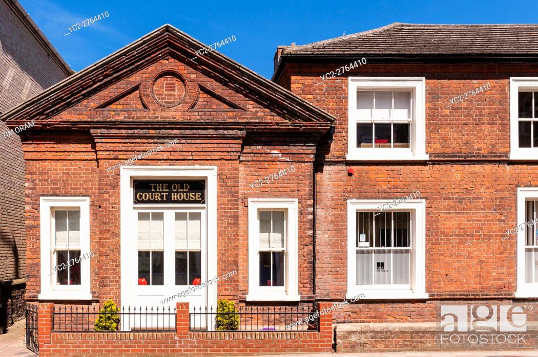 Stock Photo: The Old Court House in Cromer , Norfolk , England , Britain , Uk.