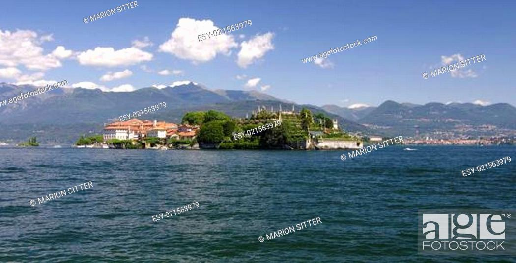 Stock Photo: Blumeninsel Isola Bella - Borromäische Insel - Lago Maggiore.