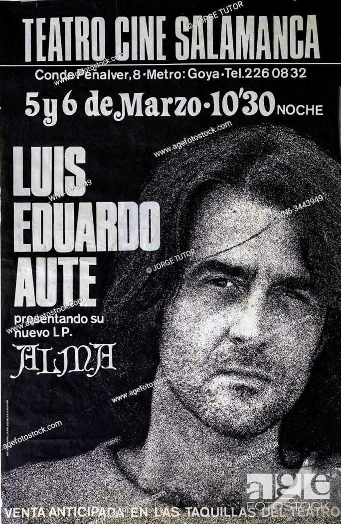 Imagen: Luis Eduardo Aute, Alma album Madrid 1981 tour, Musical concert poster.
