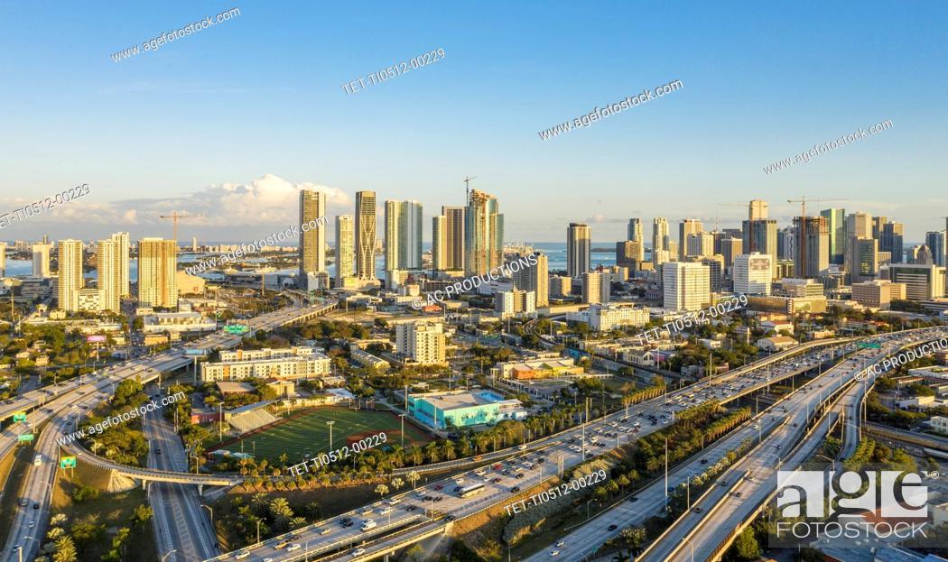 Stock Photo: Cityscape of Miami, USA.