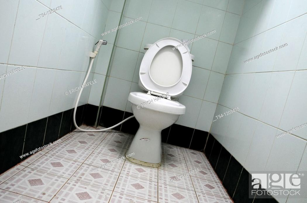 Stock Photo: Toilet in Cambodia.