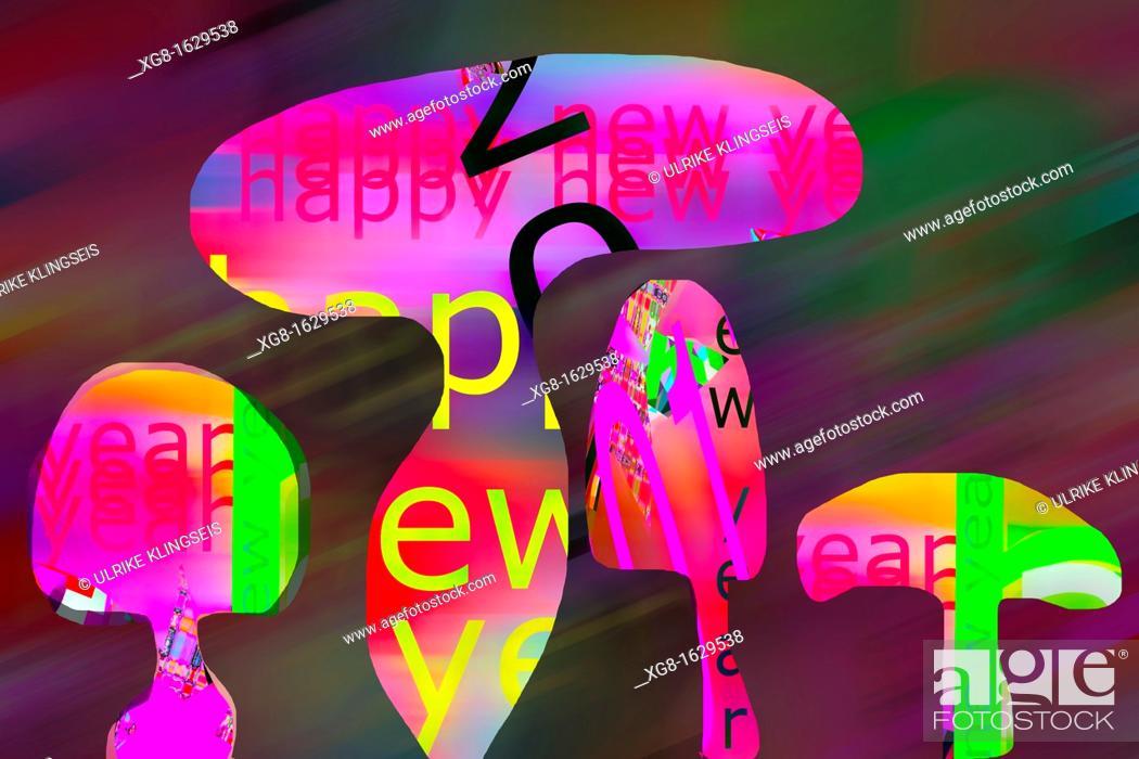 Stock Photo: new year-illustration.