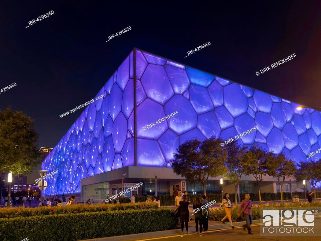 Imagen: Beijing National Aquatics Center, Water Cube, Olympic Green, Beijing, China.