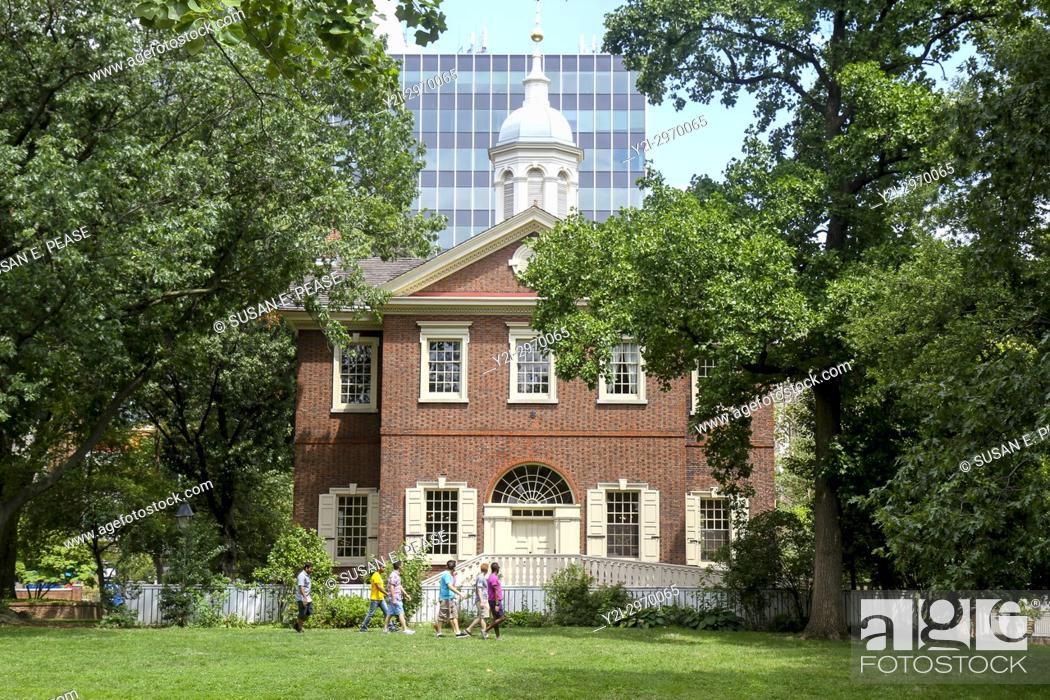 Stock Photo: Carpenters' Hall, Independence National HIstoric Park, Philadelphia, Pennsylvania, United States.