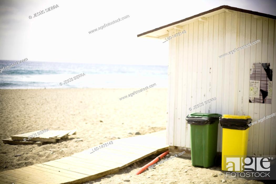 Stock Photo: Las Negras beach in Cabo de Gata, Almeria, Spain.