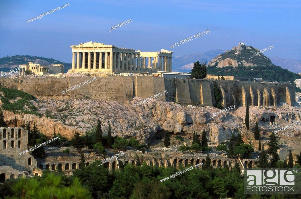 Stock Photo: Greece - Athens - Acropolis.