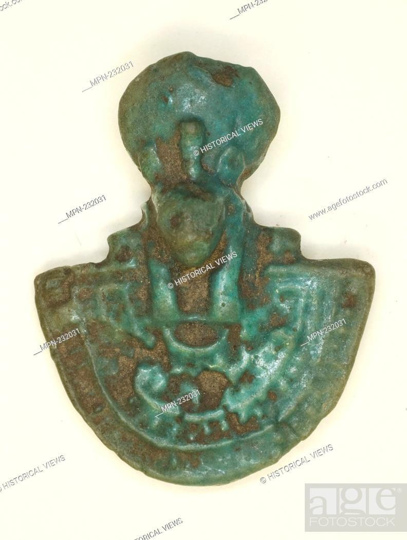Imagen: Pectoral Amulet of the Goddess Bastet - Third Intermediate Period, Dynasty 21–25 (1070–656 BC) - Egyptian - Artist: Ancient Egyptian, Origin: Egypt.