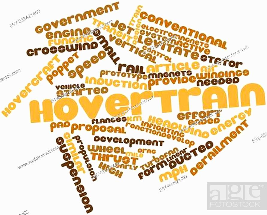 Stock Photo: Abstract word cloud for Hovertrain with related tags and terms.