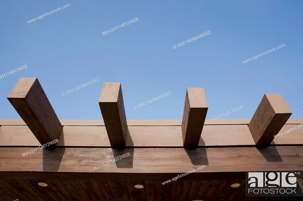 Imagen: Close-up of wooden planks against the clear blue sky; Dana Point; California; USA.