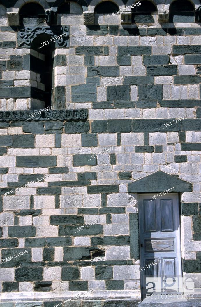 Stock Photo: San Michele church in Murato, Corsica, France.