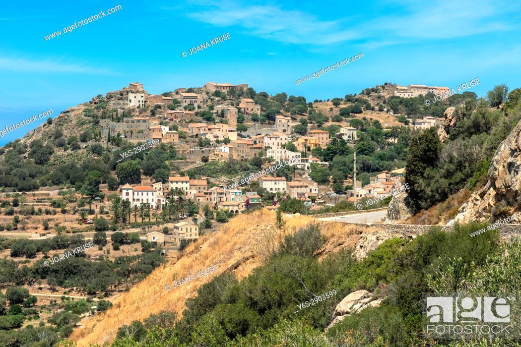 Stock Photo: Corbara, Corsica, France.