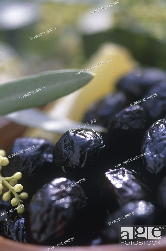 Stock Photo: Close-up of black olives.